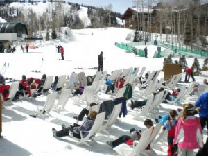 ski beach at Deer Valley