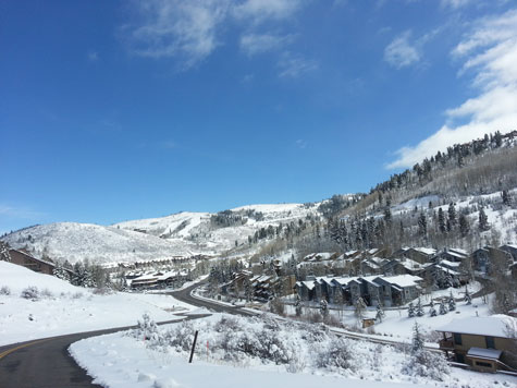 snow in park city