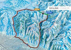 Map of SkiLink Utah