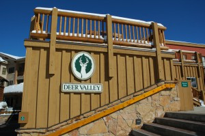 Picture of Deer Valley logo at Silver Lake Lodge in Deer Valley Utah