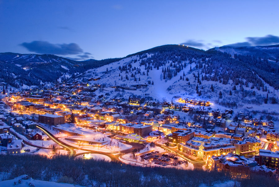 Park City at night