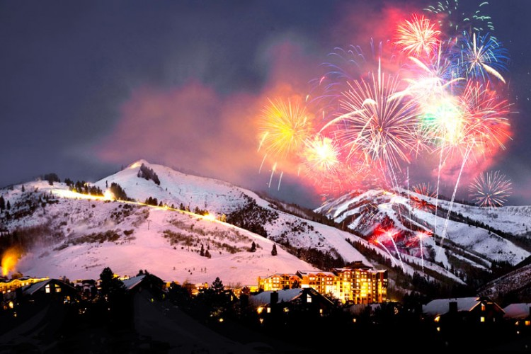 New Years Fireworks at Canyons