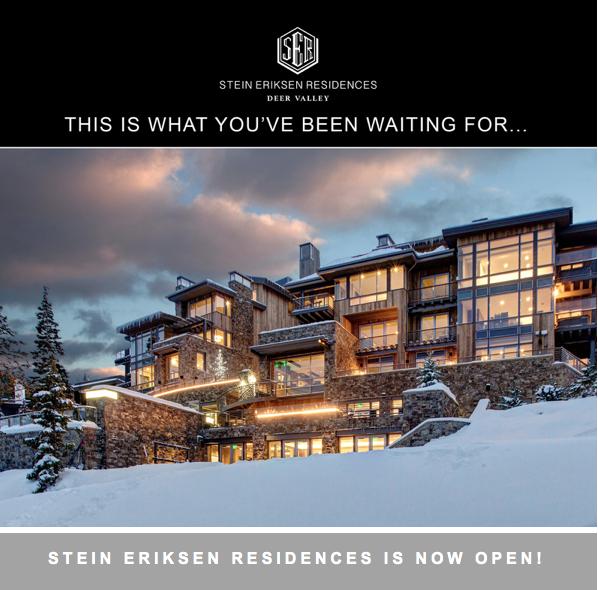 Stein Eriksen Residences Deer Valley is now OPEN