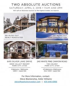 Park City Real Estate - Absolute Auction - No Reserve - Luxury Park City homes for Sale