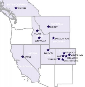 WRMA ski town resorts including Park City, UT and Vail CO